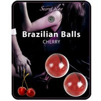 2 BRAZILIAN BALLS STRAWBERRY