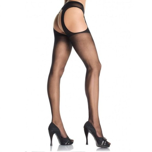 LEG AVENUE PLUS SIZE SUSPENDER PANTYHOSE | цена 25.97 лв.