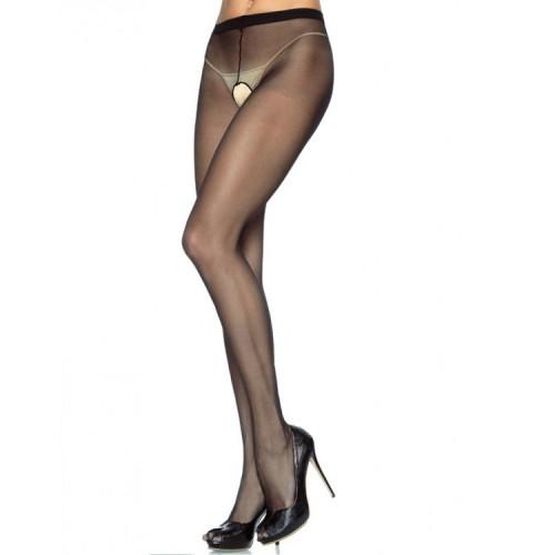 LEG AVENUE PLUS SIZE CROTCHLESS PANTYHOUSE | цена 23.37 лв.