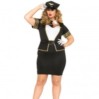LEG AVENUE MILE HIGH PILOT PLUS SIZE 1X/2X