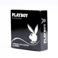 PLAYBOY TRANSPARENT CLASSIC CONDOM 54MM 3 PACK