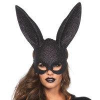 LEGAVENUE GLITTER MASQUERADE RABBIT MASK