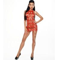 ME-SEDUCE GWEN OPEN BACK DRESS RED L/XL
