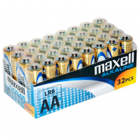 MAXELL BATTERY ALCALINA AA LR6 PACK*32 UDS