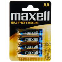 MAXELL SUPER ALKALINE AA LR6  4UDS