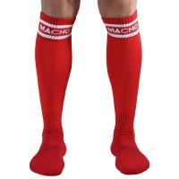 MACHO MALE LONG SOCKS ONE SIZE - RED