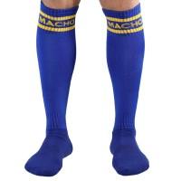 MACHO MALE LONG SOCKS ONE SIZE - BLUE