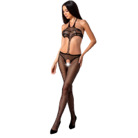 PASSION WOMAN BS080 BODYSTOCKING - BLACK ONE SIZE