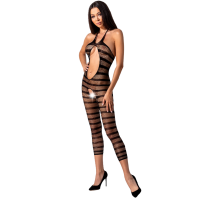 PASSION WOMAN BS081 BODYSTOCKING - BLACK ONE SIZE