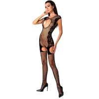 PASSION WOMAN BS082 BODYSTOCKING - BLACK ONE SIZE