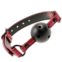 FETISH SUBMISSIVE DARK ROOM  BREATHABLE BALL GAG