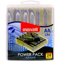 MAXELL ALKALINE BATTERY AA LR6 PACK * 24 BATTERIES