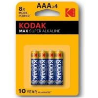 KODAK MAX ALKALINE BATTERY AA LR6 BLISTER * 4