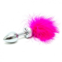 Анален разширител Small Butt Plug With Pink Feathers